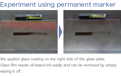 Experiment using permanent marker
