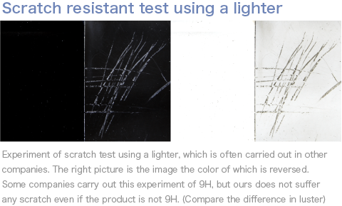Scratch resistant test using a lighter